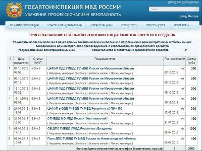 Проверка штрафов ГИБДД по номеру машины онлайн