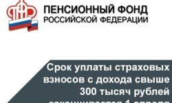 Фото: Уплатить страховые взносы в ПФР с дохода более 300 тысяч рублей необходимо до 1 апреля.